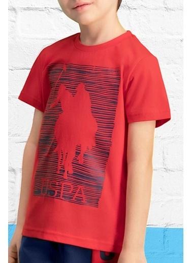 U.S. Polo Assn. U.S. Polo Assn Lisanslı Kırmızı Erkek Çocuk Kapri Takım Kırmızı